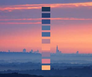 color, sunset, and color palette image