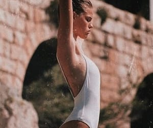 bikini, model, and top image