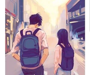 couple, anime, and art image