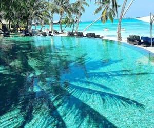 sea, paradise, and pool image