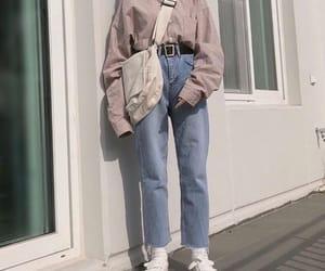 blue, long sleeve, and pants image