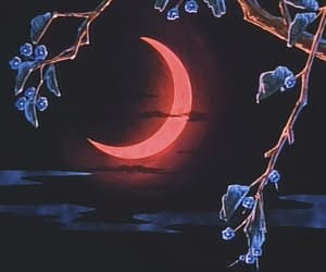 aesthetic, blue, and crescent image