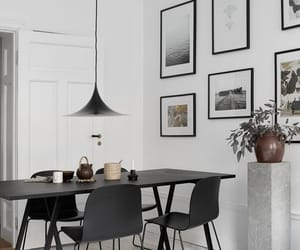 black, dining room, and home image