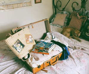 vintage, travel, and bed image