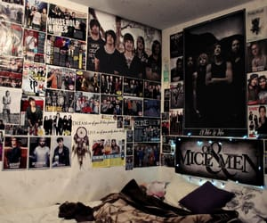 band, posters, and room image