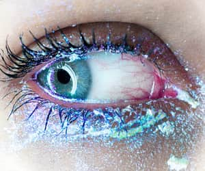 cool, eye, and glitter image