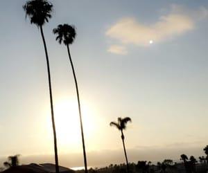 beach, sky, and california image