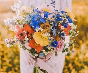 bouquet, picnic, and wedding image