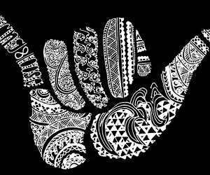 black, black and white, and hand image