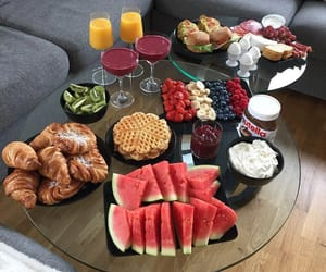 breakfast, croissant, and fruit image