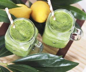 healthy smoothie recipe, cleansing smoothie, and detox recipe image
