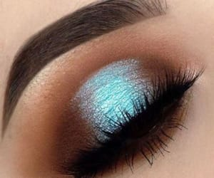 eyeshadow, makeup, and blue image
