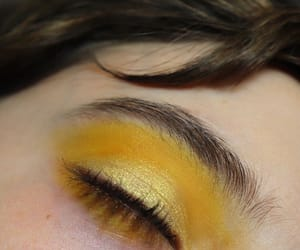 aesthetic, makeup, and yellow image