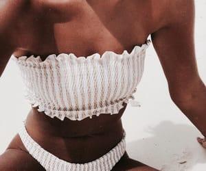 bikini, bottom, and stripes image