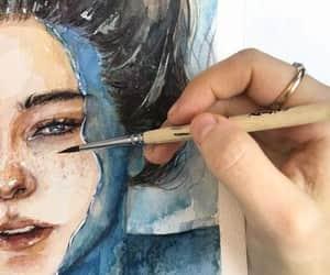 brush, girl, and underwater image