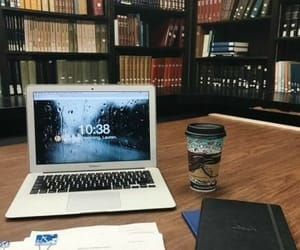 books, coffee, and study image