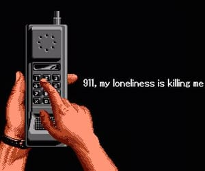 911, sad, and lonely image