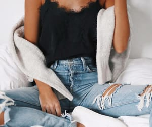 denim, girls, and jeans image