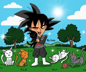 cat, cats, and dragon ball image