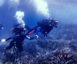 couple, scubadiving, and diving image
