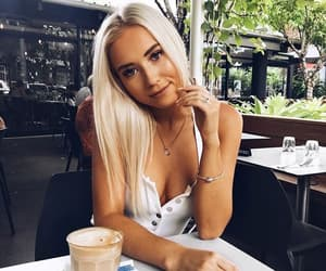 blonde, makeup, and style image