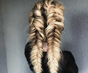 beauty, blond, and braids image