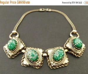 chunky jewelry, etsy, and green necklace image