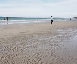 beach, sun, and wales image