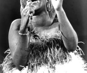 aretha franklin, black and white, and photography image