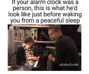 alarm clock, funny, and hanson image