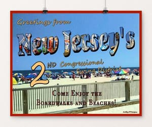 jersey, travel postcard, and New Jersey image