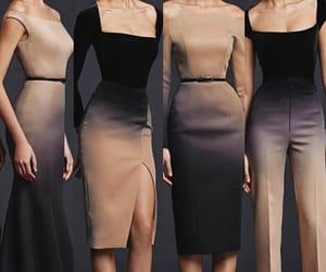 beige, moda, and negro image
