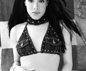 aaliyah, black woman, and music image