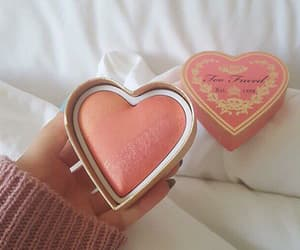 makeup, pink, and heart image