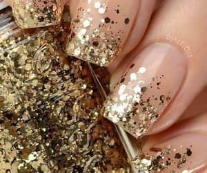 glitter, essie, and nails image