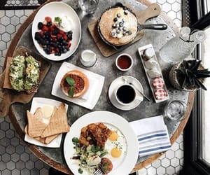 breakfast, cafe, and coffee image