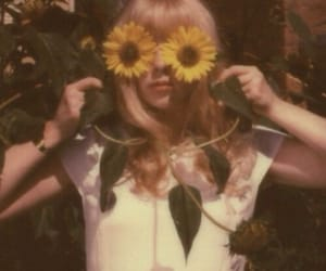 sunflower, vintage, and flowers image