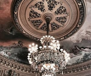 architecture, chandelier, and art image