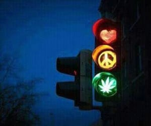 lights, peace, and weed image