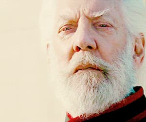 gif, hunger games, and president snow image