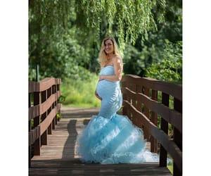 ivory pregnancy tutu, babyshower tutu, and maternity fashion image