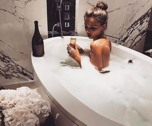 girl, bath, and luxury image