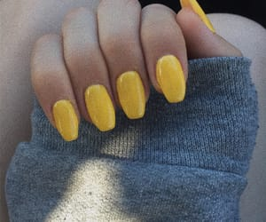 gel, nails, and yellow image