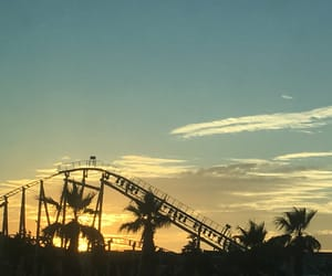 fun, peacefull, and Roller Coaster image