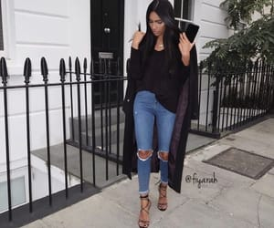 fashion style, high heels black, and outfit clothes image