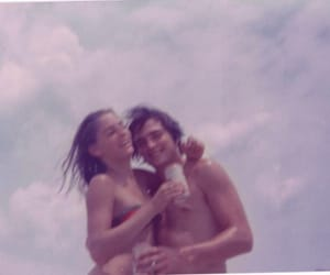 70s, beach, and couple image