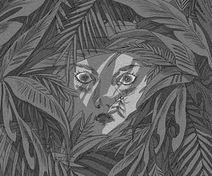 face, human, and plant image