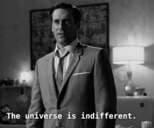 black and white, don draper, and indifference image