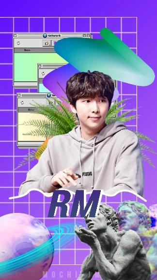 kpop, rm, and edits image