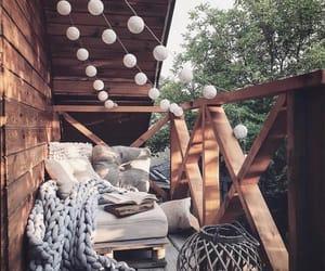house, balcony, and cushions image